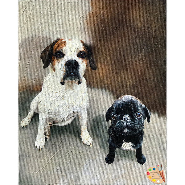 Custom Pet Portraits Painted in Oil