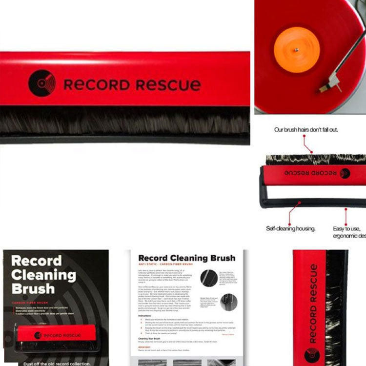 How to Clean Vinyl Records with Record Cleaning Brush - Vinyl Record Rescue