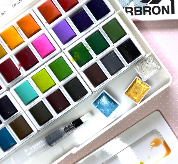 CRBRON 48+3 Watercolor Palette Unboxing