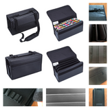 Large Leather Marker Case with 84 Slots