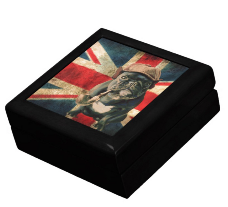 keepsake box with pug
