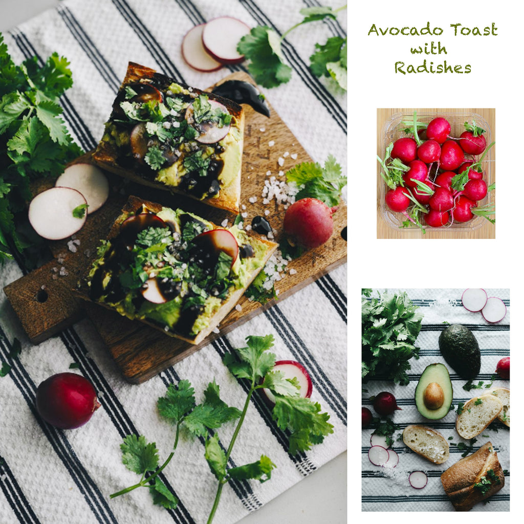 Avocado Toast with Radishes