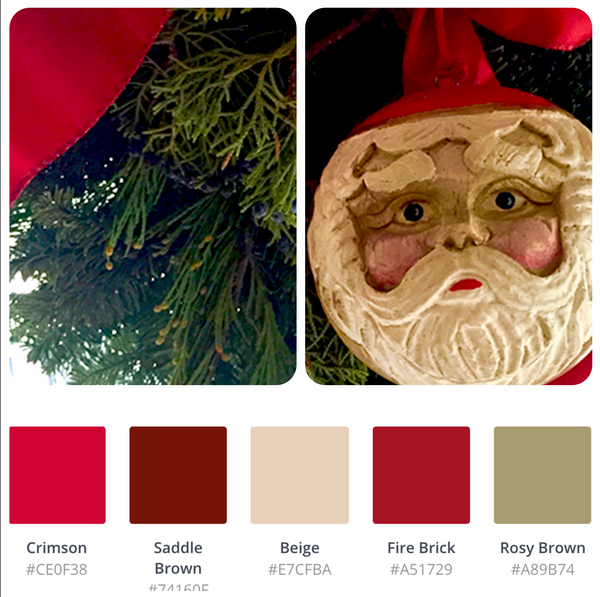 color swatches santa