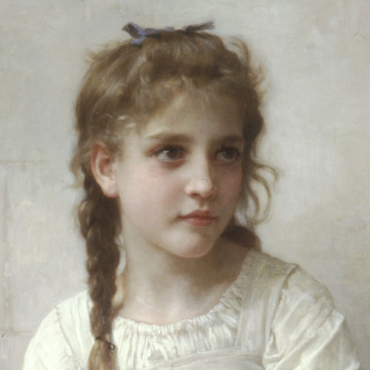 Girl Painting by Bougerrau