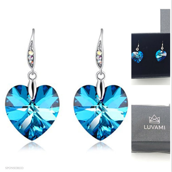 LUVAMI SWAROVSKI HEART EARRINGS