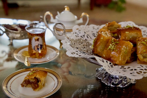 Baklava and tea