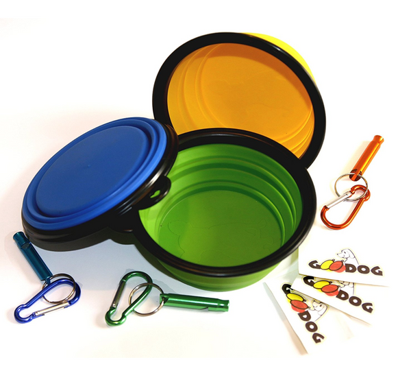 collapsible dog bowl set