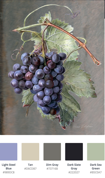 grapes color palette