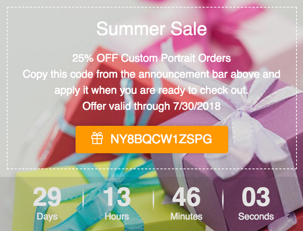 Summer Sale 25% Off Coupon