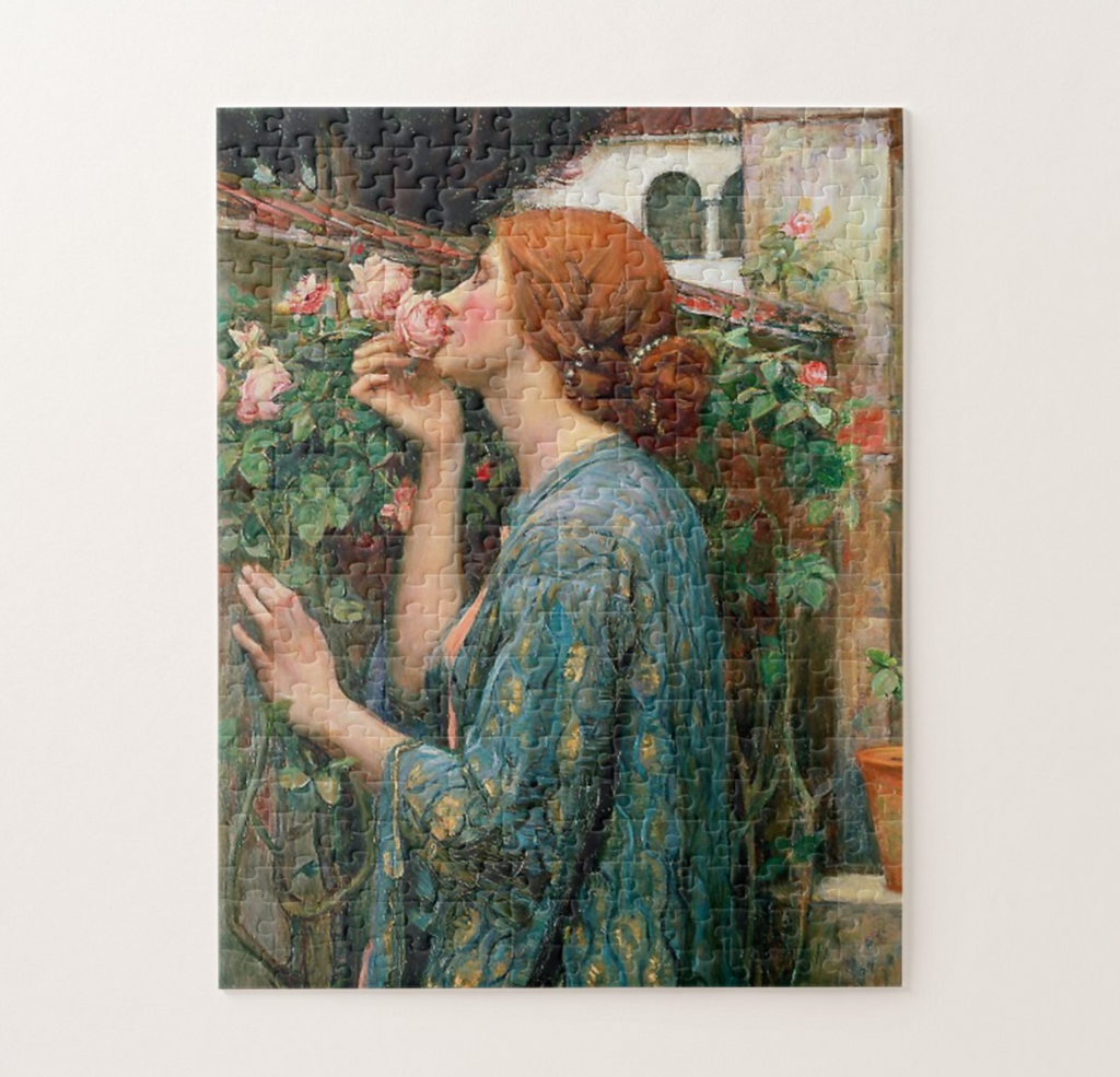 John William Waterhouse Smell the Rose Puzzle