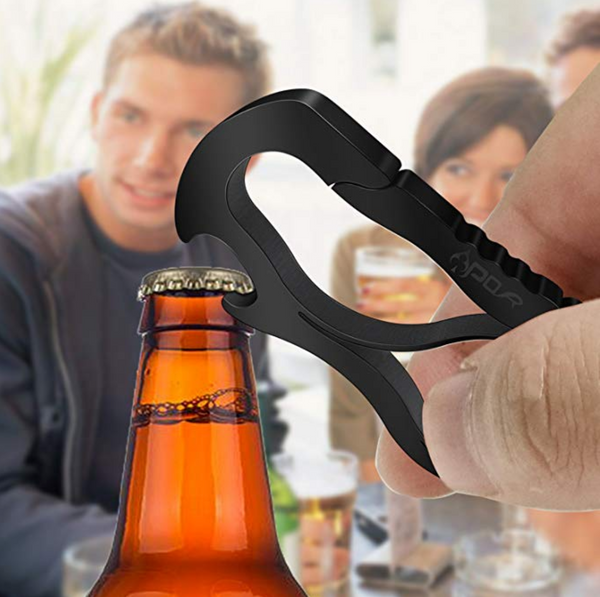 carabiners as bottle openers