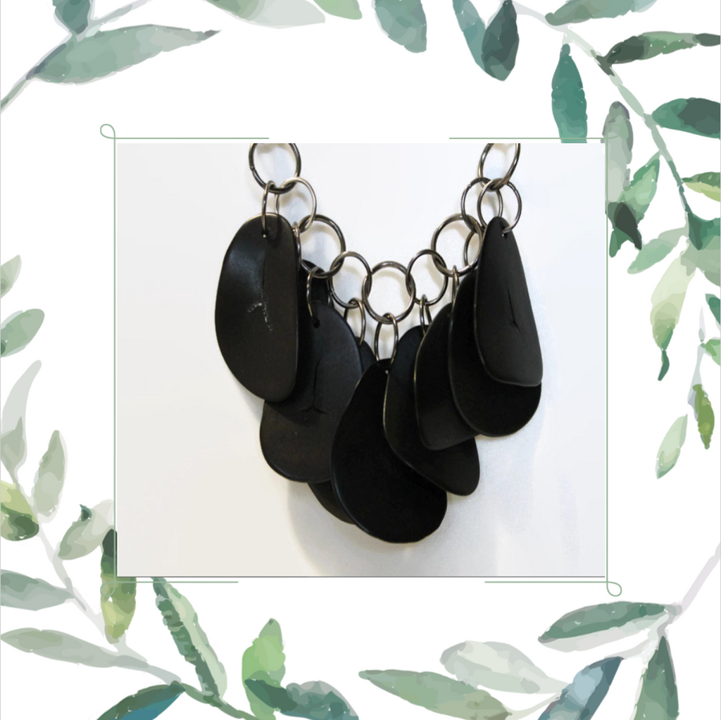 Black Necklace by Jewelry by Samantha Holder Designs