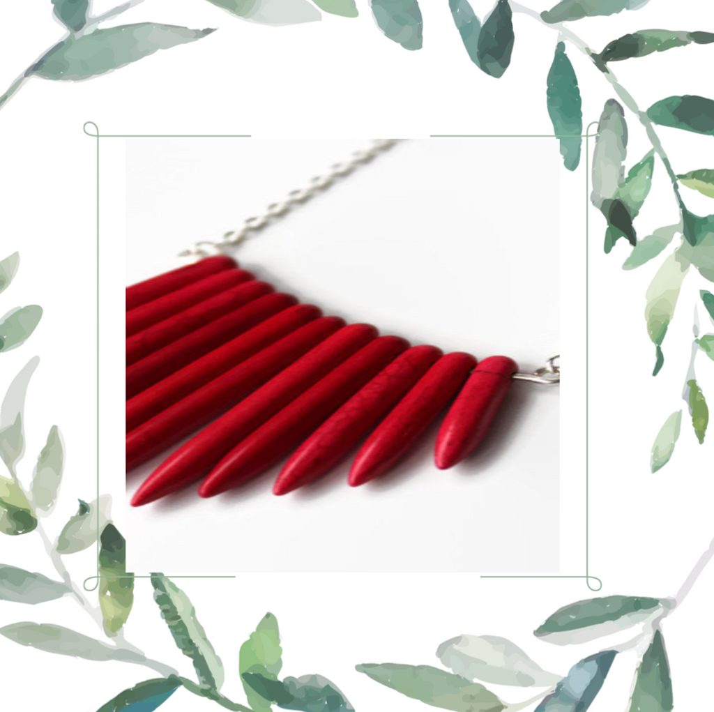 Red Necklace by Jewelry by Samantha Holder Designs