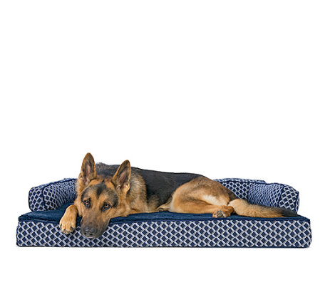 Diamond Blue Comfy Orthopedic Sofa Pet Bed