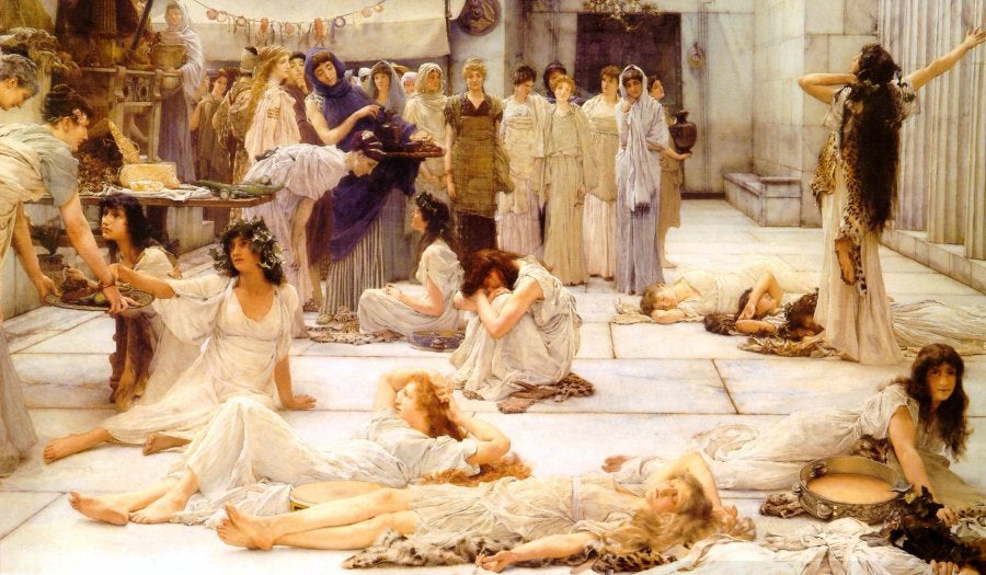 The women of amphissa by sir lawrence alma tadema