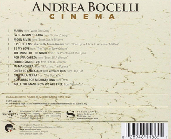 andrea bocelli cinema playlist
