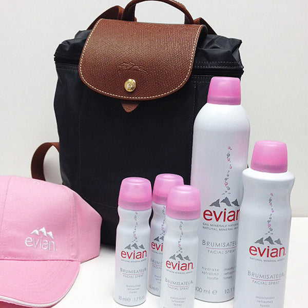 Evian Facial Spray Longchamp bag