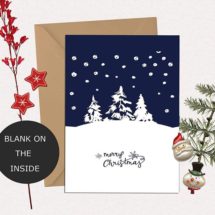 blank christmas cards with brown envelopes
