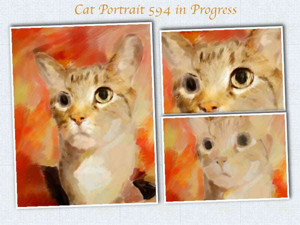 cat painting rough sketch 594