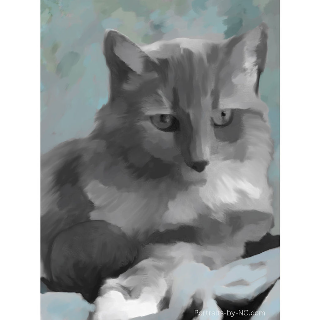 cat portrait wip 2