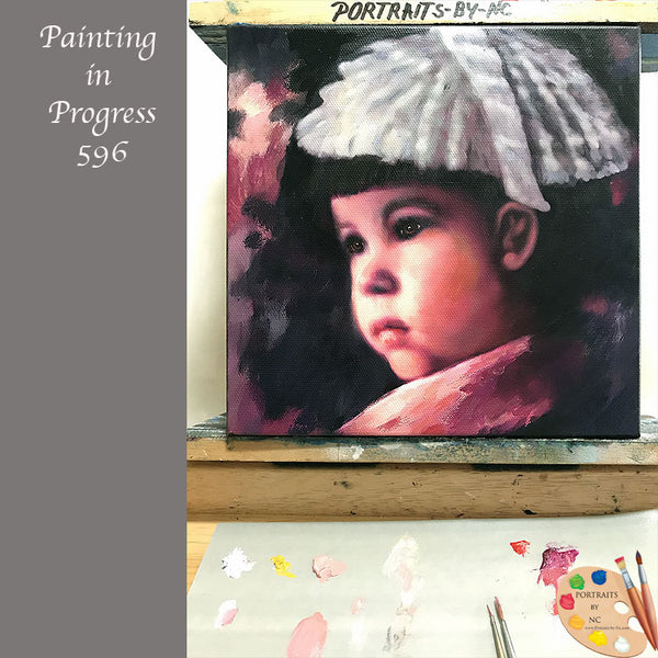 girl portrait in progress 596