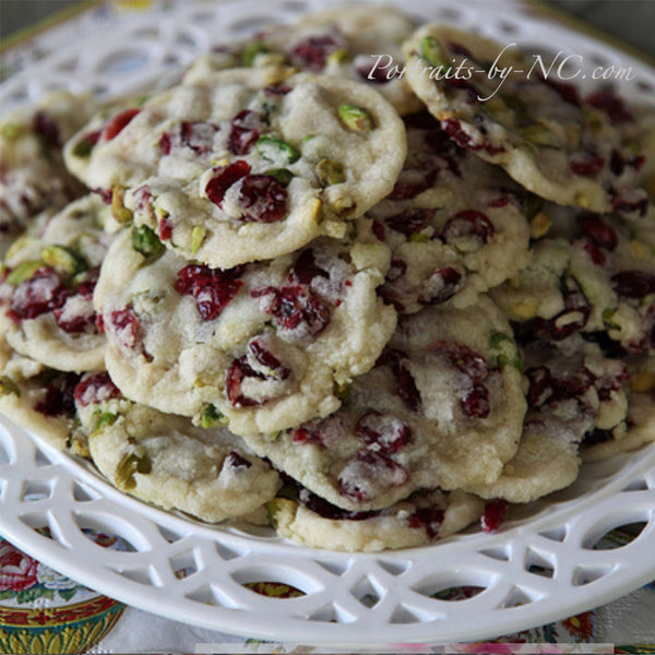 Cranberry Cookies on Plate