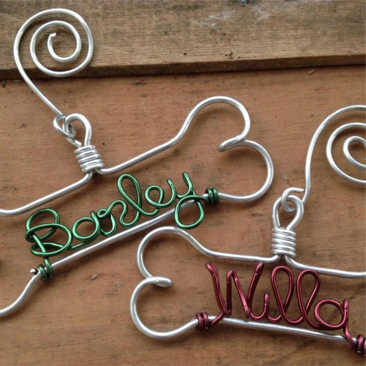 Dog bone wire ornament