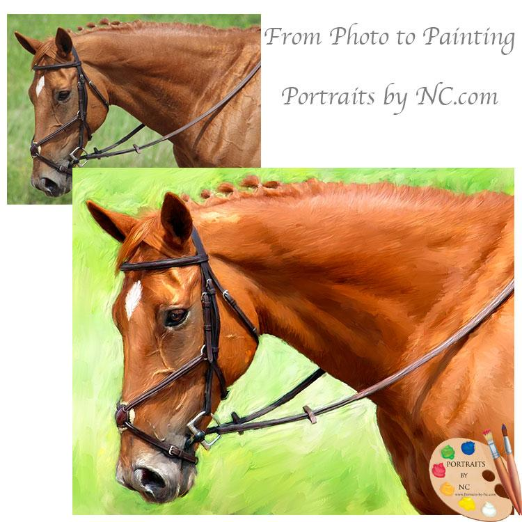 equine painting from photo 603