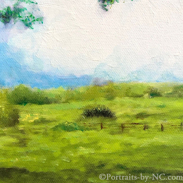 painting of a field