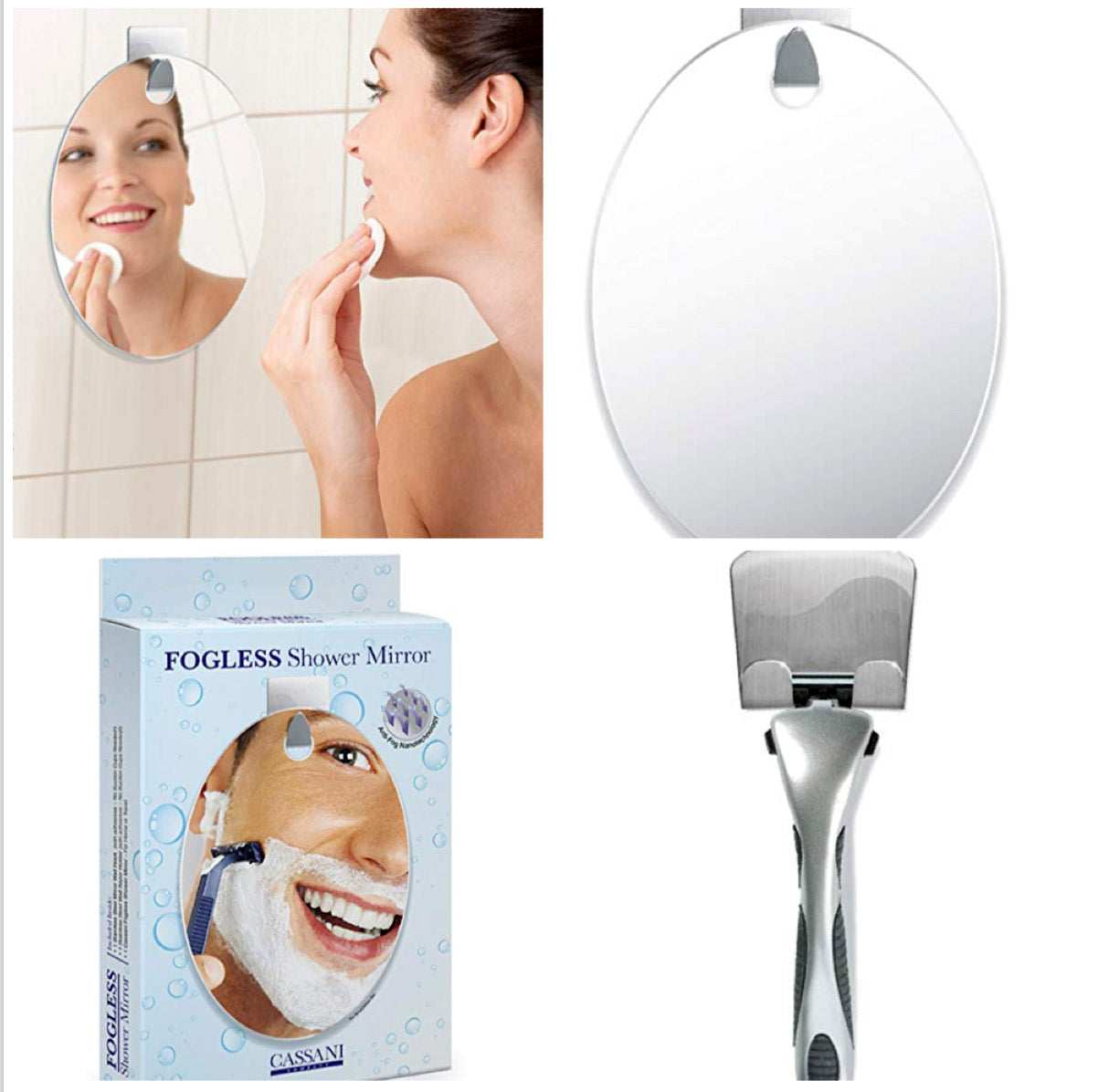 Fogless shower mirror by cassani