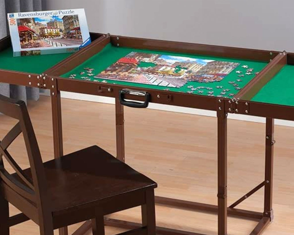 Foldable puzzle jigsaw table