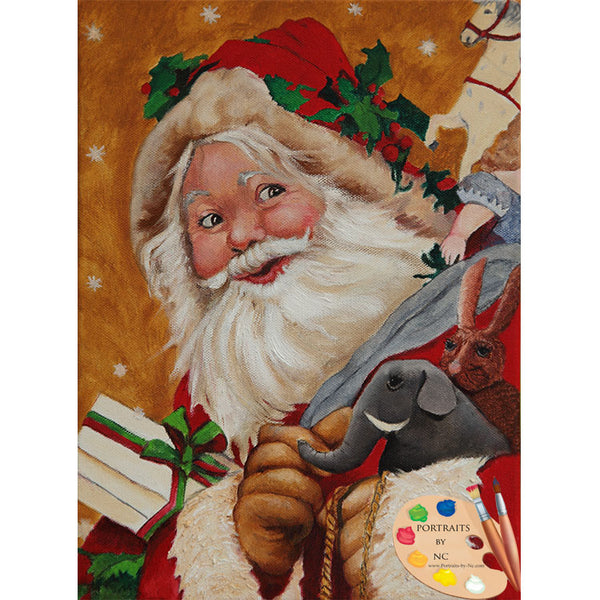 Jolly Santa Painting