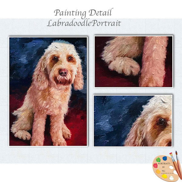 labradoodle painting 589