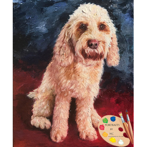 Labradoodle Oil Portrait