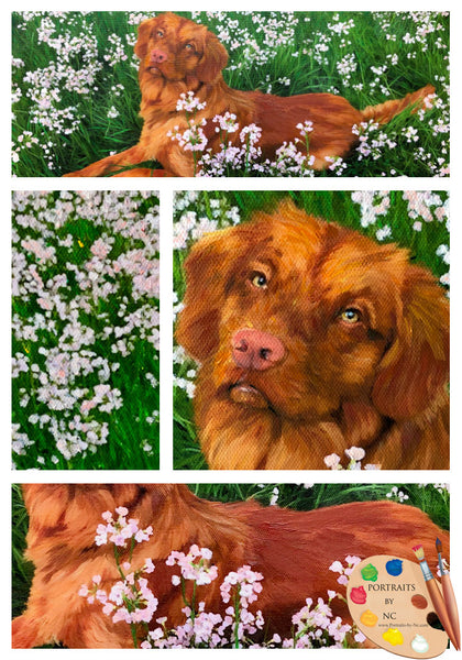 labrador painting collage