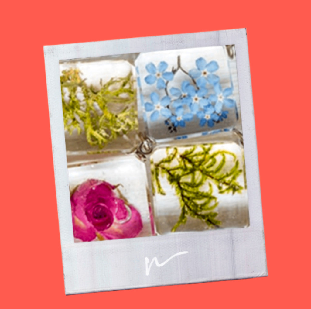 Resin mold with flowers