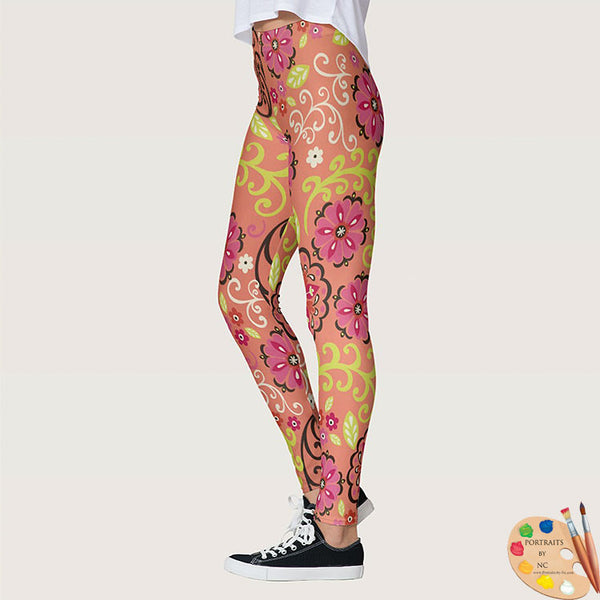 Leggings Flower Power Side 1