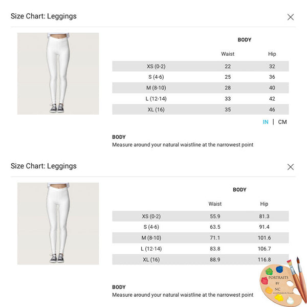 leggings-size-chart