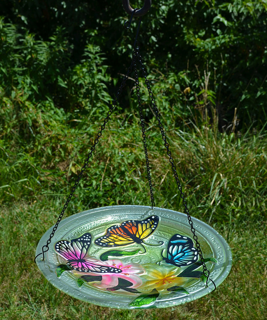love this product Butterfly Trio Hanging Birdbath