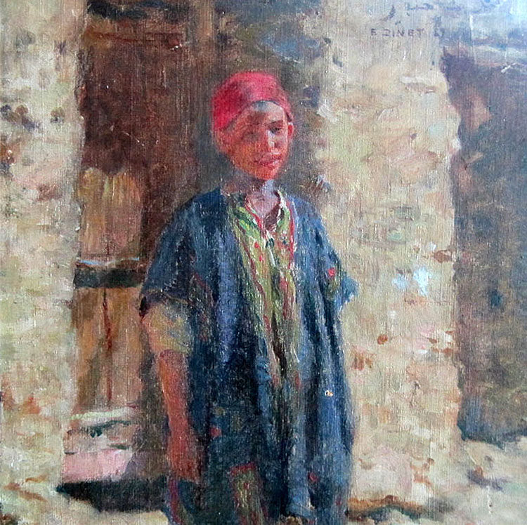portrait of boy by Etienne Dinet