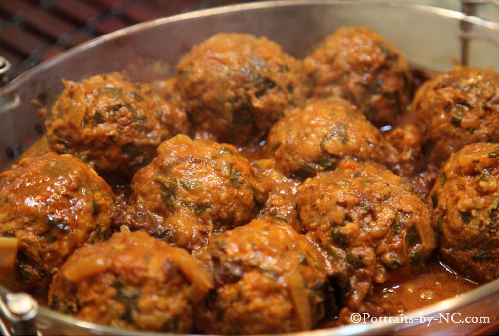 Persian meatballs plated
