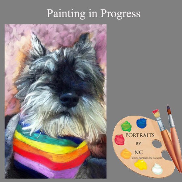 schnauzer portrait in progress