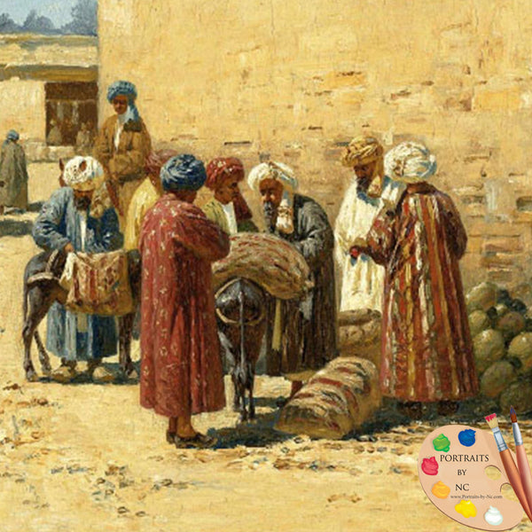 central asian street sellers detail