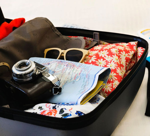 suitcase with garments
