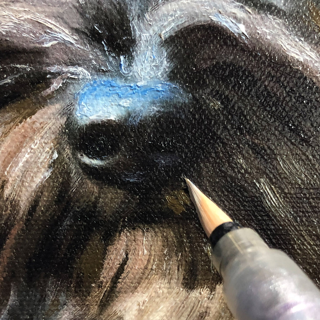 Painting a dog nose
