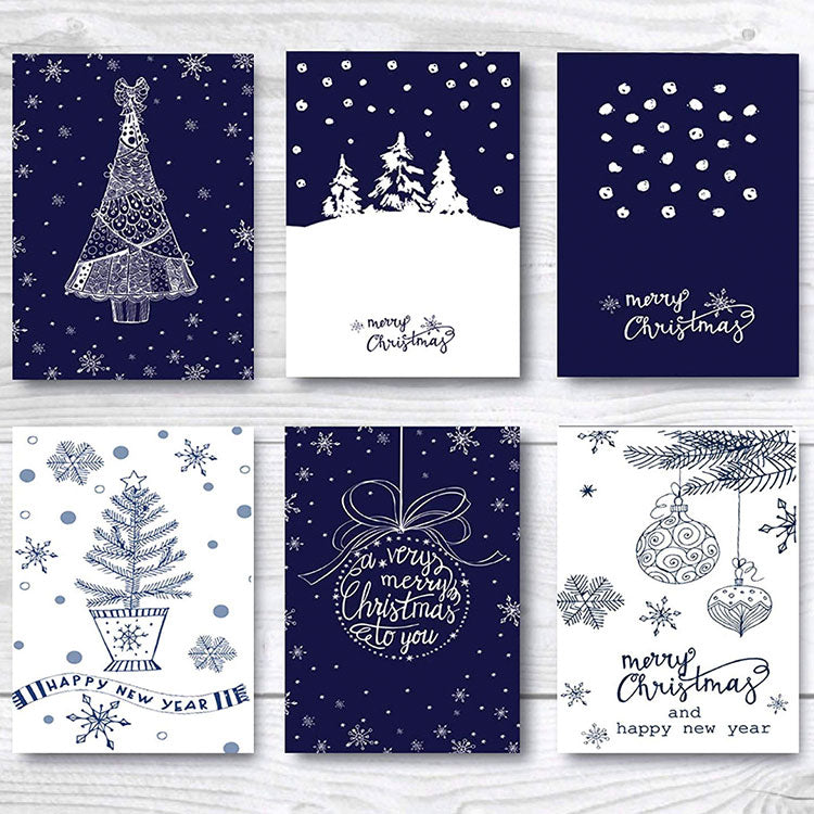 two tone Christmas cards