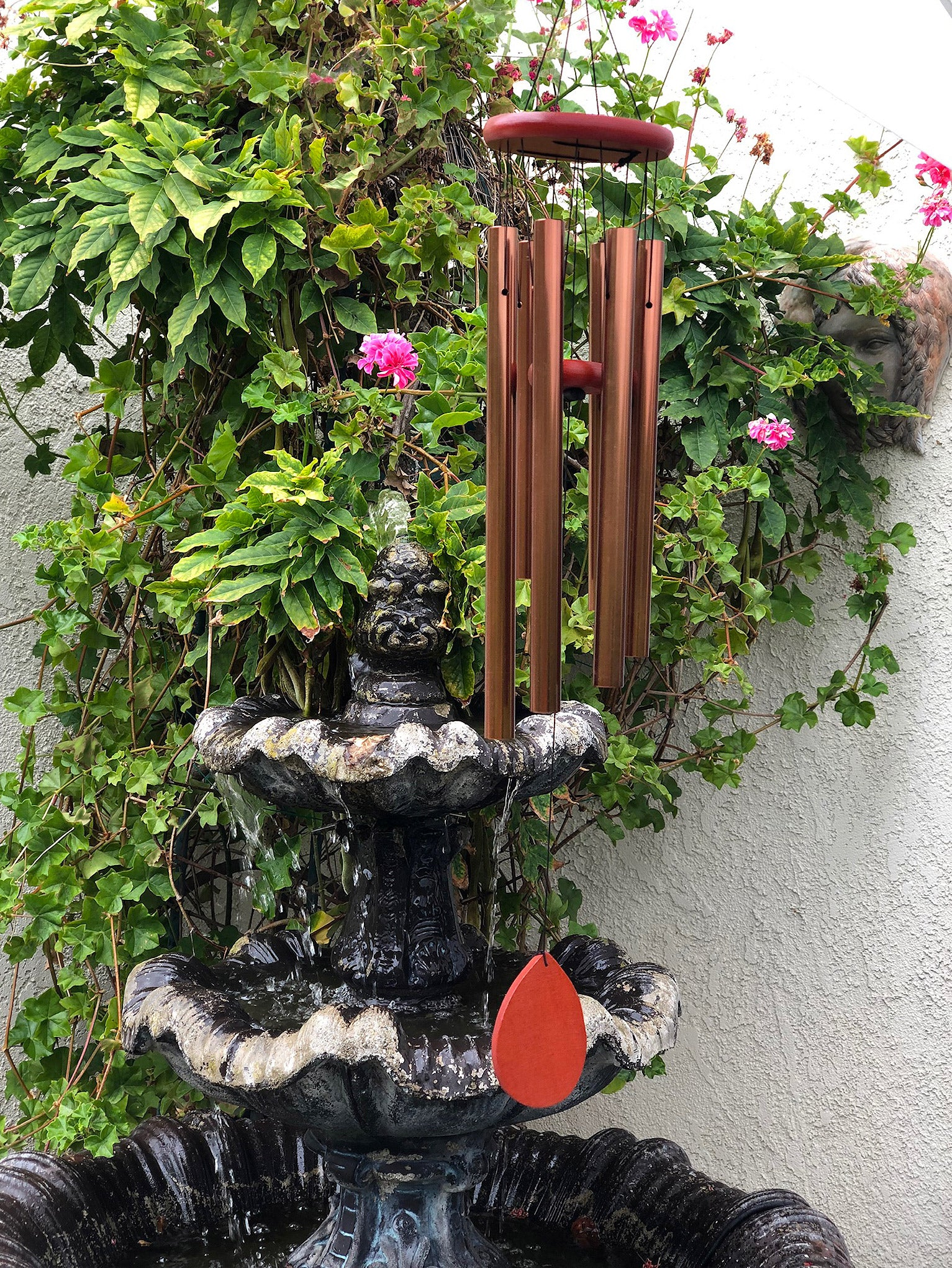 wind chime by fountain