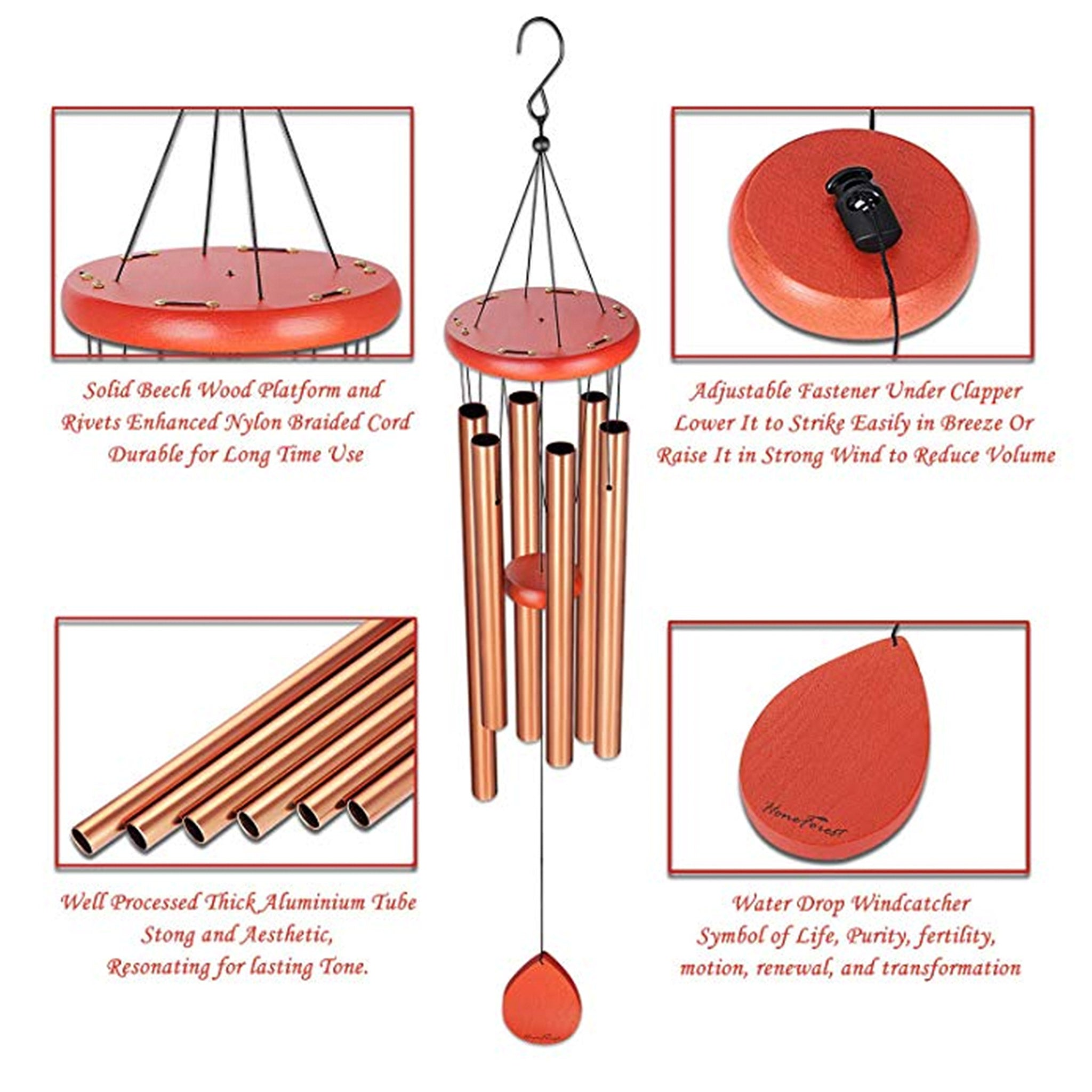 honeforest wind chime specs