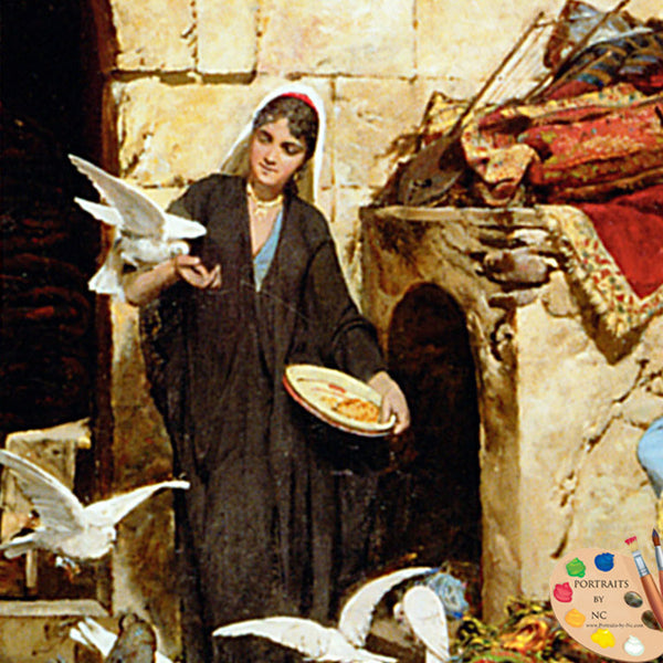 woman-feeding-doves