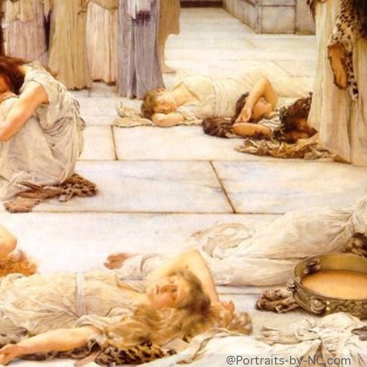women of amphissa sleeping